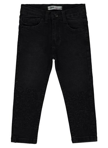 Civil Girls Kız Çocuk Kot Pantolon Siyah